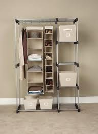 Wardrobe With Shelves by Wardrobe Storage Closet With Hanging Rod U0026 Shelves Home Design Ideas