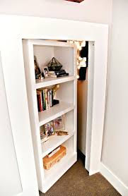 Diy Hidden Bookcase Door Closets Mirror On Closet Doors Build Hidden Closet Doors Hidden