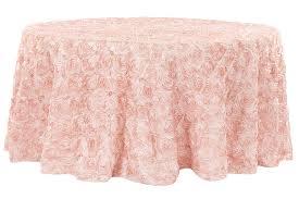 pink rosette table runner wonderful wedding rosette satin 132 round tablecloth blushrose gold