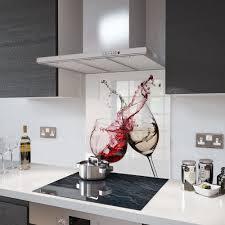 white kitchen with black glass splashback made to measure gl