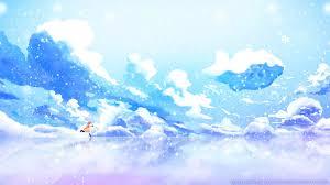 winter anime wallpaper hd wallpaper sunlight anime reflection sky winter blue clannad