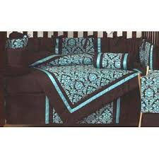 Turquoise And Brown Bedding Sets Sweet Jojo Designs Bella Turquoise Collection 9pc Crib Bedding Set