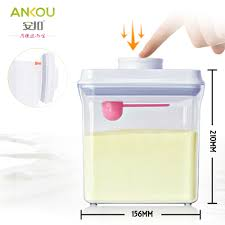 Formula Milk Storage Containers Ankou Air Tight Container 2300ml Rectangle Specially Made For