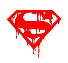 superman car decal ebay dripping melting bloody superman symbol vinyl decal car window superhero sticker