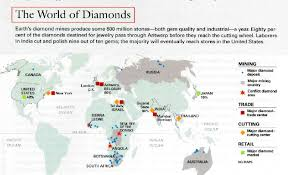 Production Map Gem Quality Mining Countries Diamonds Bling Bling Projects To Try Bling Bling
