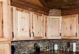 Hickory Cabinets Are Popular In Log Homes And Rustic Lodges - Rustic pine kitchen cabinets