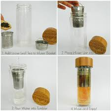 amazonsmile tea infuser and fruit infused glass water bottle