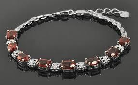 garnet bracelet silver images Luxurious natural garnet bracelet 925 solid sterling silver 8ct jpg