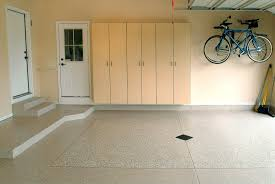 white painting color garage floor coating epoxy with wood wall