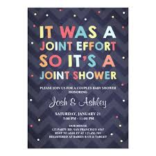 coed baby shower couples baby shower invitation coed shower joint zazzle