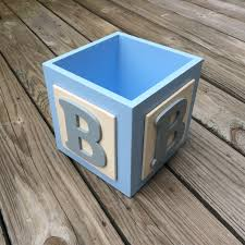 Baby Boy Shower Centerpieces by Abc Baby Block Centerpiece Block Baby Boy Centerpieces Baby