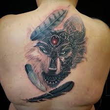 view feather designs meanings flowertattooideas ear wolf in
