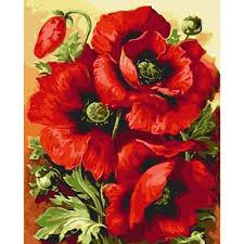 poppy home decor aliexpress com buy poppy flower painting for painting by numbers