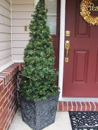 cheap christmas trees with lights 30 outdoor christmas decoration ideas net lights cone trees and