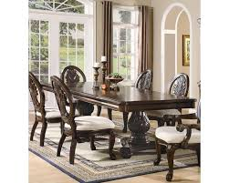 coaster double pedestal dining table tabitha co 101037