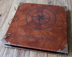 Leather Photo Albums Engraved Our Adventure Book Etsy