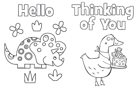 printable coloring cards highlights for children