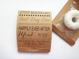 wedding mint lifesaver matchbook favors happily after