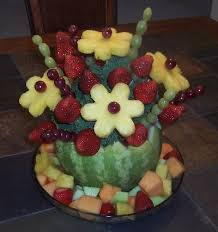fruit flower arrangements fruit bouquets how to fruit arrangements from ediblecraftsonline
