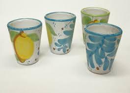 bicchieri in ceramica stoviglieria solimene ceramica vietri sul mare