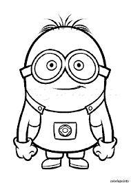 coloriage dessin minion portrait dessin