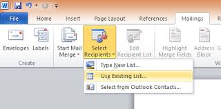 cara membuat mail merge di word 2013 cara membuat mail merge di word menggunakan sumber data dari excel