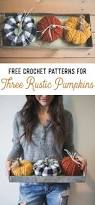 Crochet Patterns For Home Decor Free Crochet Patterns For Three Rustic Pumpkins U2014 Megmade With