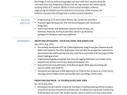 Front End Developer Resume Sample Free Ui Developer Resume Technology Skills On Resume Resume For