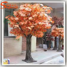 outdoor ornamental artificial autumn tree bonsai tree artificial
