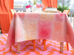 World Map Tablecloth by How To Make A Tablecloth From Drop Cloth U0026 Watercolor Hgtv