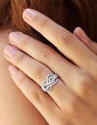 infinity diamond ring gold wedding band infinity knot ring 0 75 ct diamond ring