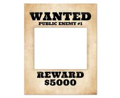 photo booth frame prop printable wanted poster wanted sign