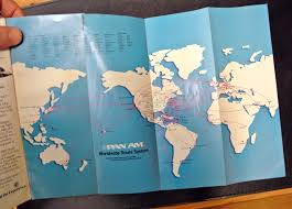 One World Route Map by Homage To The Boarding Pass Wallet