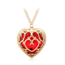 long red heart necklace images Japanese anime the legend of zelda figure necklace red heart jpg