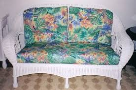 Wicker Settee Cushion Set Wicker Living Room Furniture Sunroom Furniture Sets
