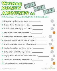 writing money amounts 4 worksheet education com