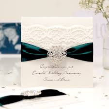 55th wedding anniversary vintage emerald anniversary cards personalised luxury cards in