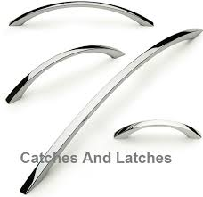 chrome kitchen cabinet handles cordelia bow handles for cabinets 64mm 288mm hole centres polished
