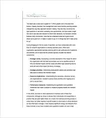 non profit business plan template u2013 8 free word excel pdf