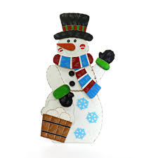 alpine 36 in wooden christmas snowman decor wqs110l the home depot