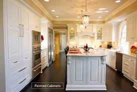 is paint or stain better for kitchen cabinets custom kitchen cabinets painted vs stained