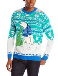 blizzard men u0027s polar bear light up ugly christmas sweater at