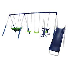 Flexible Flyer Lawn Swing Frame by Flexible Flyer Fun Fantastic Ii Gym Set With Seesaw Hayneedle