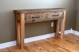 wood and metal console table with drawers wood metal console table home design