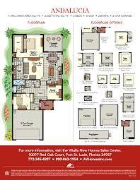 andalucia av homes the floor plan