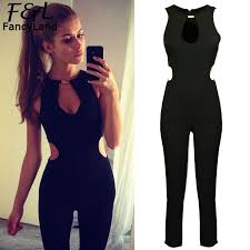 jumpsuit and rompers alishebuy rompers womens jumpsuit 2017 hollow out high waist cut