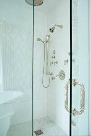 walk in shower doors glass glass walk in shower with ornate shower door handle transitional