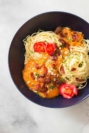 butternut squash pasta sauce with bacon green healthy cooking