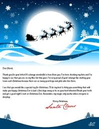 santa claus letters letter from santa create a personalized letter from santa claus