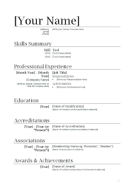 free simple resume template resume exle of simple resume sle format the for free